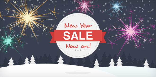New Year Sale Banner #newyear #website #graphics