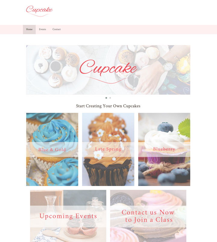 Cupcake Style Template