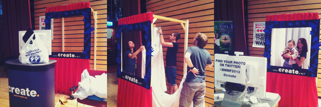 Create Booth Under Construction at #Brighton Mini Maker Faire