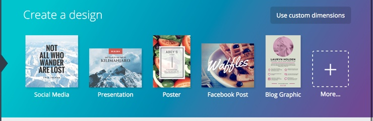 Screenshot of Canva.com design features