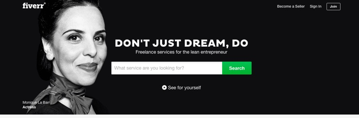 Screenshot of fiverr.com