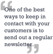 Newsletters quote