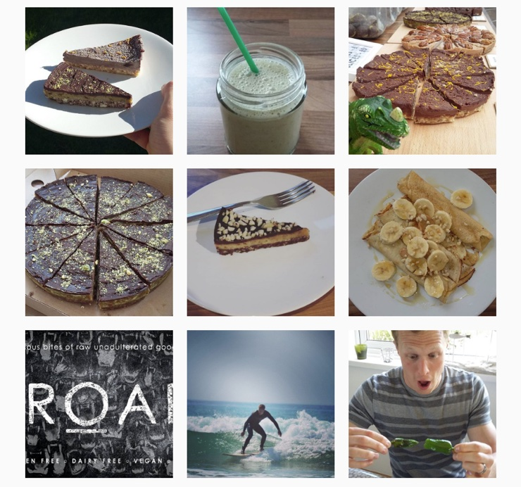 Screenshot of EatROAR Instagram account