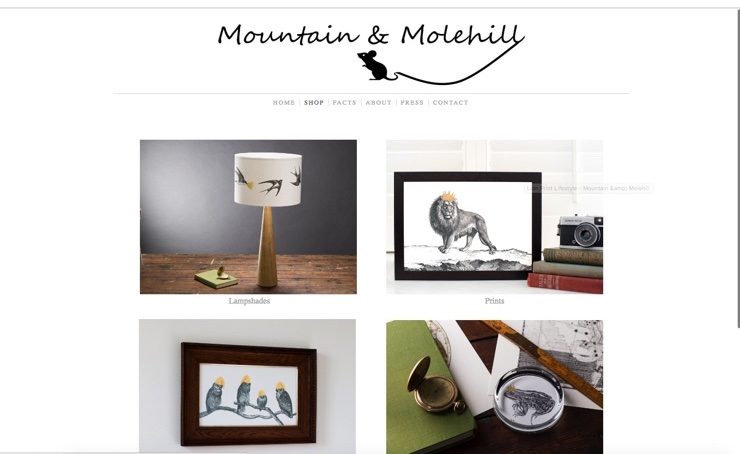 Screenshot of Mountain&Molehill Homepage @CreateEcommerce