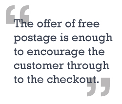 Free Postage blog quote