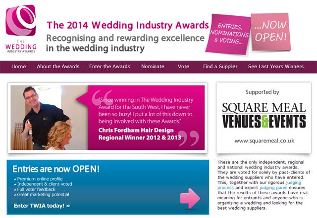 Wedding Industry Awards Screenshot