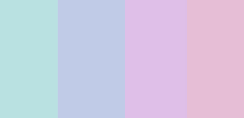 colour palette with pastel colours