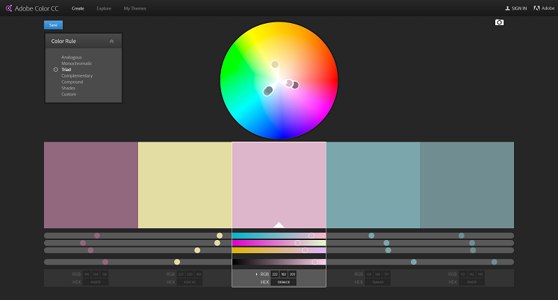 How To Create A Colour Scheme Using Adobe Color Create Net
