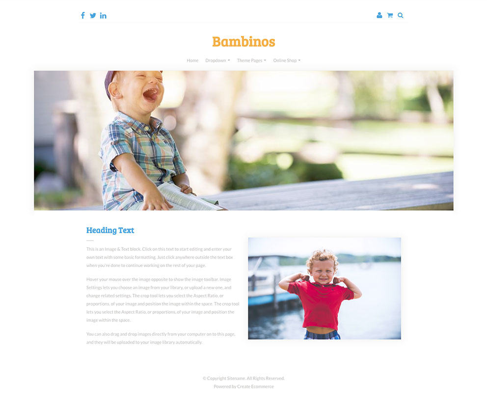 Bambinos Template Preview