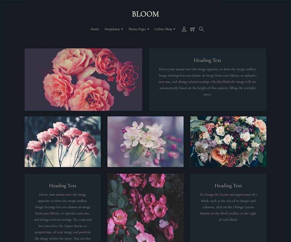 Bloom Template Preview