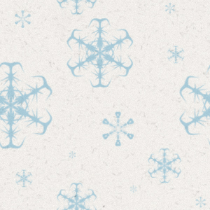 Christmas Tiled Wallpaper With White Background And Blue Snowflakes