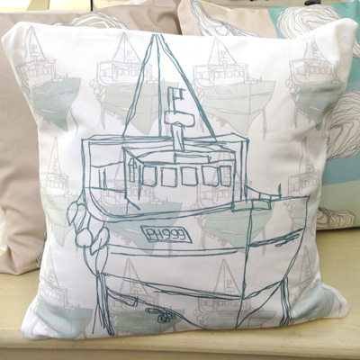 'Cornish Fishing Boat' Cover from katewakely.co.uk