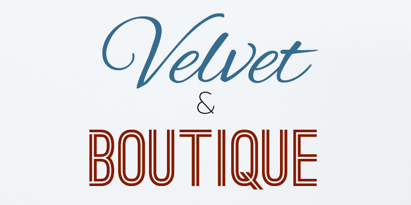 Velvet and Boutique type from new website templates