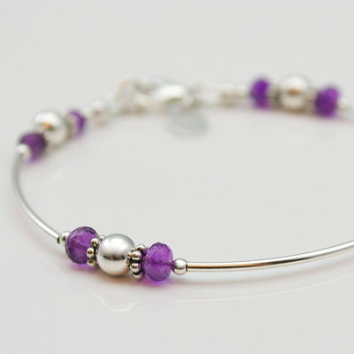 Silver Birthstone Bracelet from juliewaltonjewellery.co.uk
