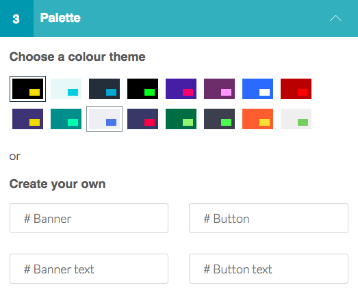 Cookie Consent Palette