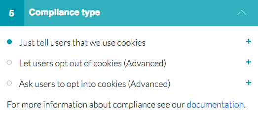 Cookie Consent Compliance Type