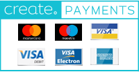 Create Payments Logo in blue