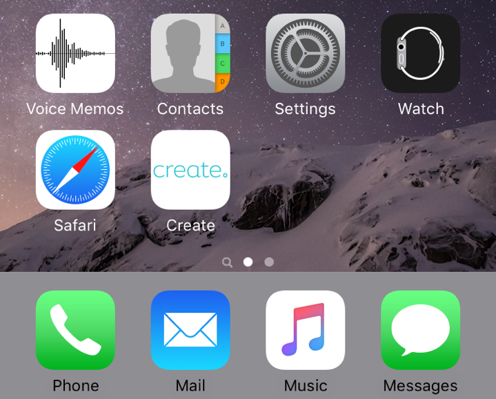 Adding an iOS home screen icon for your website | Create net