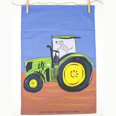 Tractor Sprocket T-Towel from sarahwestwood.co.uk