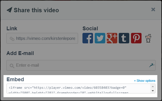 How to add a Vimeo video to your site | Create net