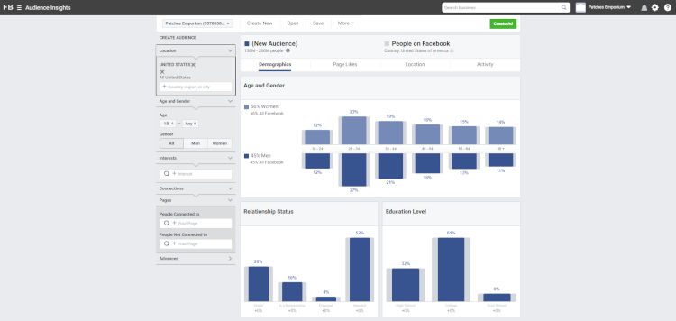The Facebook Audience Insights Tool