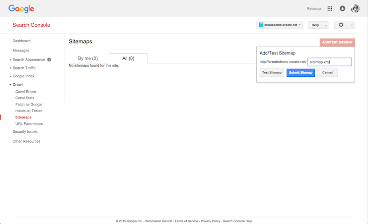 How to add your sitemap to Google Webmasters