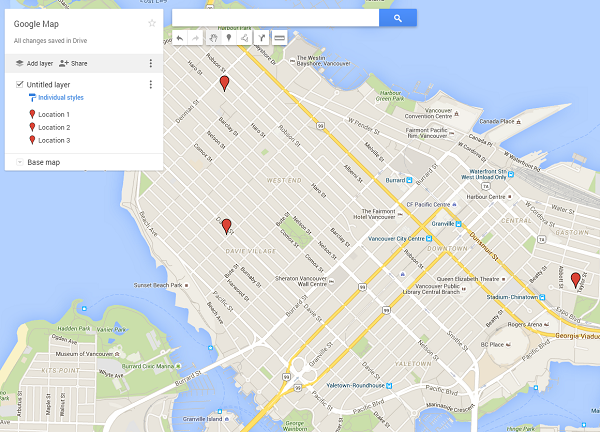 How To Pin Point Multiple Locations On Google Maps - Plot cities on a map