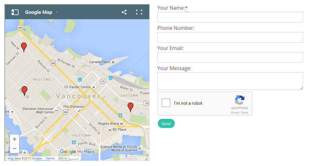 How to pin point multiple locations on google maps create you will now have a map with more than one location on your website gumiabroncs Images