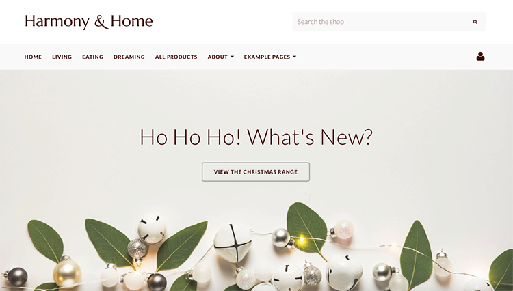 Harmony and Home Website