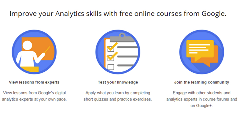 Screen shot about improving your skills with Google Analytics