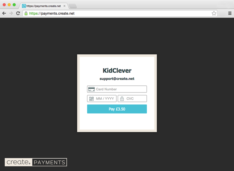 Create Payments showing kidclever.co.uk not using shared SSL