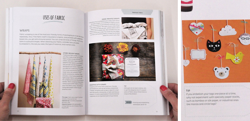inside the book of The Crafter's Guide To Packaging Handmade Products