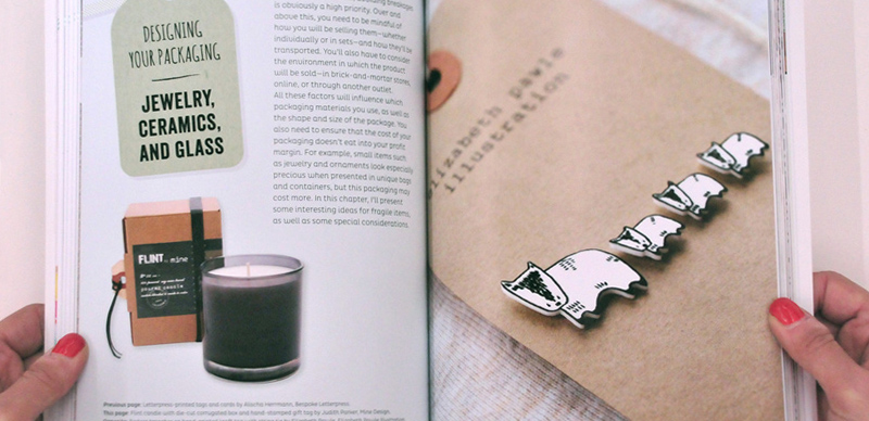 inside the book of The Crafter's Guide To Packaging Handmade Products from Maika Goods