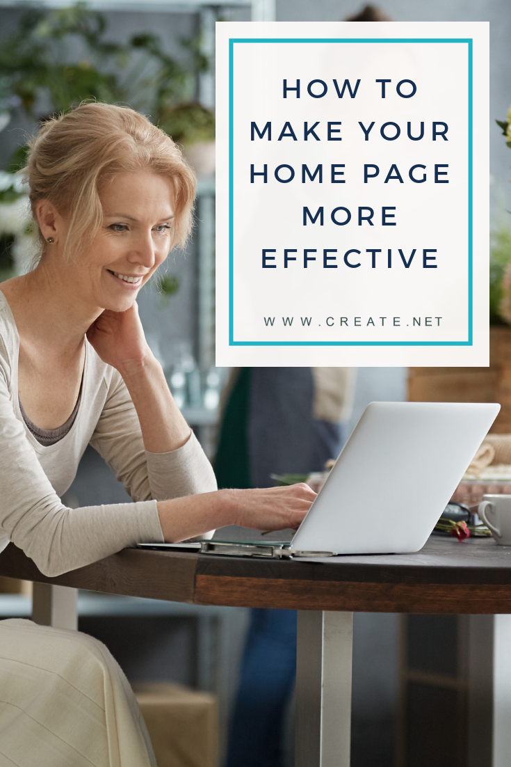 How To Make Your Website Homepage More Effective Pin