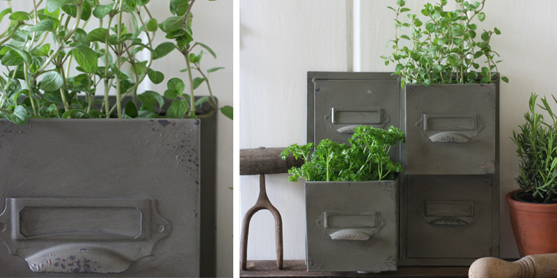 Vintage Style Drawer Wall Planter from magpieliving.co.uk