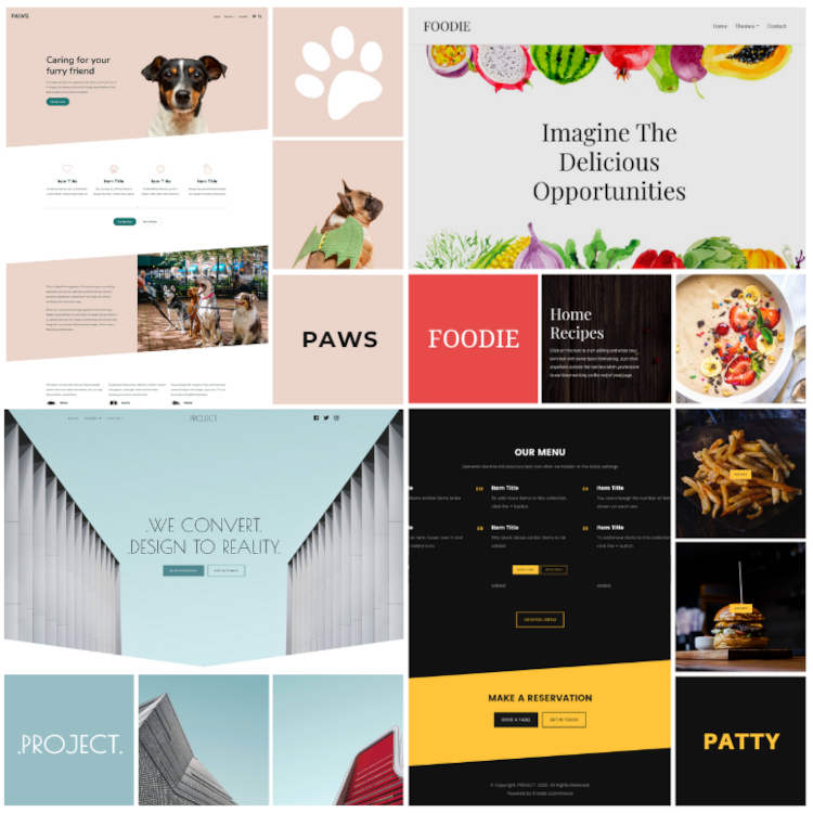 2020 New Templates for Create Websites