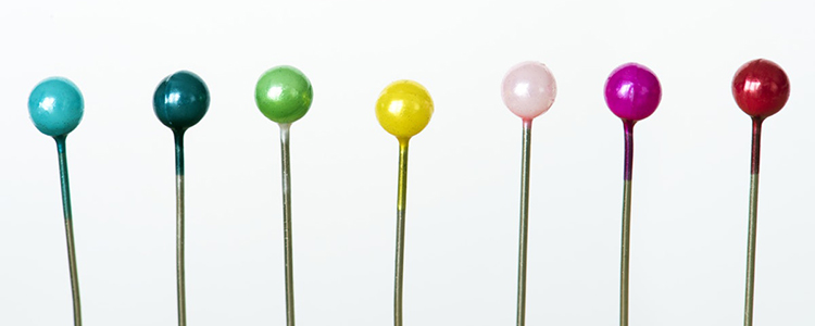 coloured pins