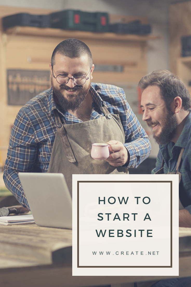 How to start a website Pin