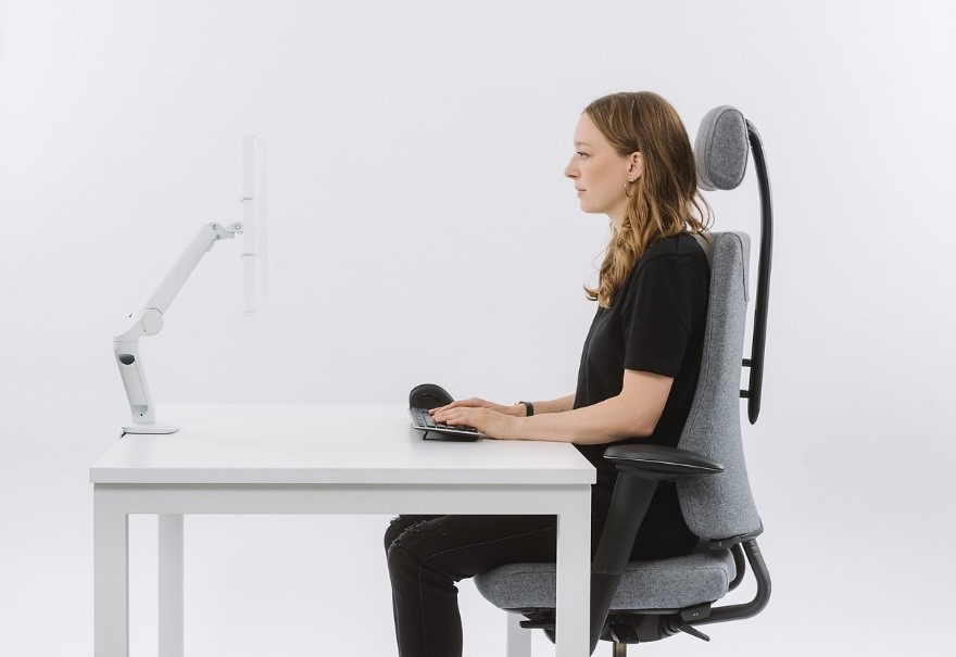 Proper Posture in a Home Working Space Example