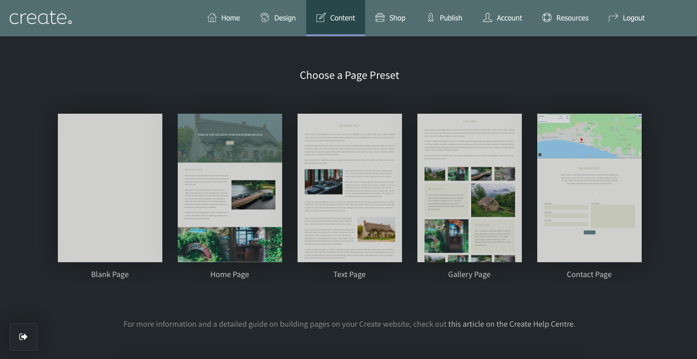 Page Preset Preview