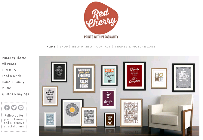 Red Cherry Prints Directory Screenshot