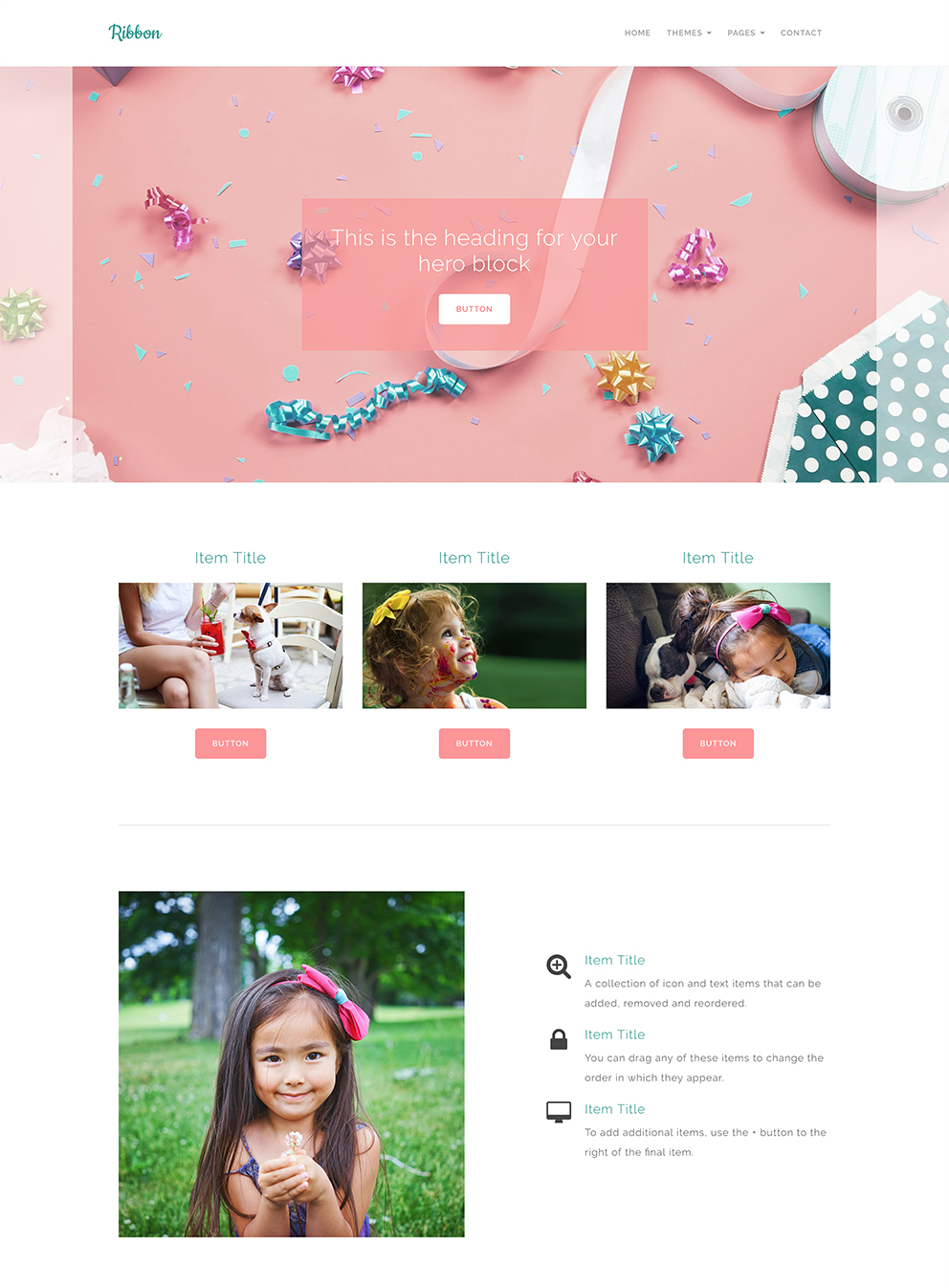 Ribbon Craft Website Template