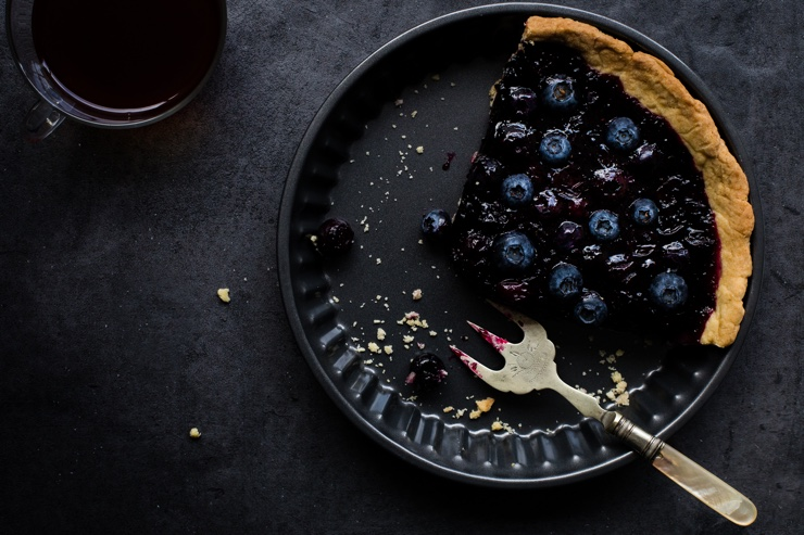 Stock photo of a blueberry pie