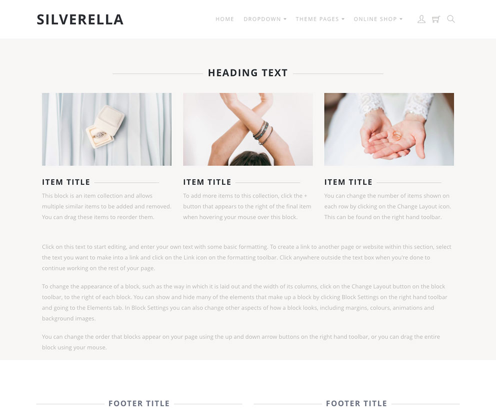 Silverella Template Preview