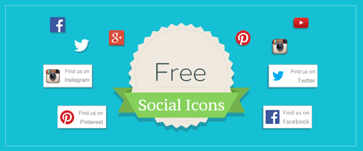 Free Social Icons for Facebook, Twitter and More!
