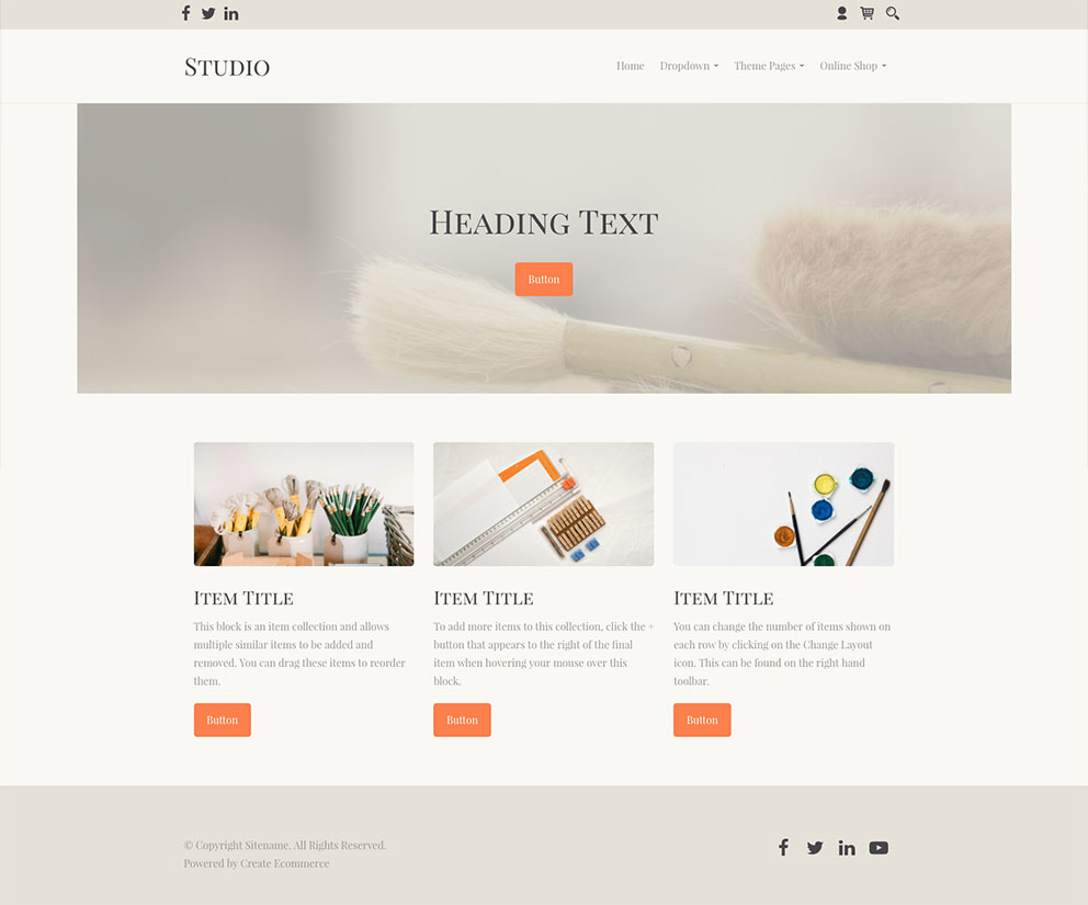 Studio Craft Website Template