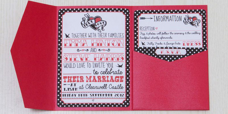 Rockabilly Red Invitations from lovelyjubblydesigns.com