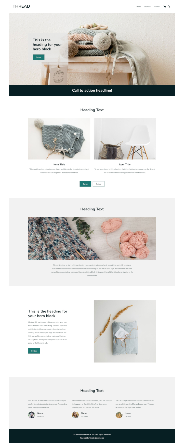 Thread Craft Website Template