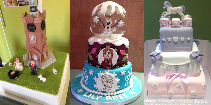 Buddy's Home Bakery cakes, three amazing cakes that include Frozen, a church and a rocking horse