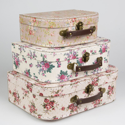 Vintage Rose Suitcases from thecosycornerhouse.co.uk